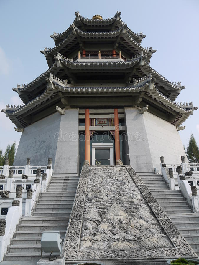 美妙的中国寺庙 库存照片