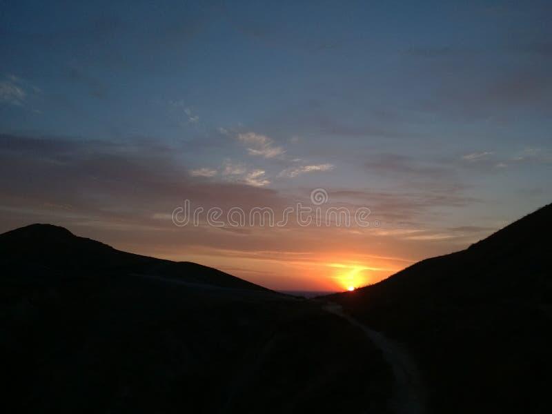 美妙的日出在克里米亚 免版税库存照片