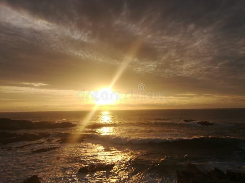 美妙的日落! 免版税图库摄影