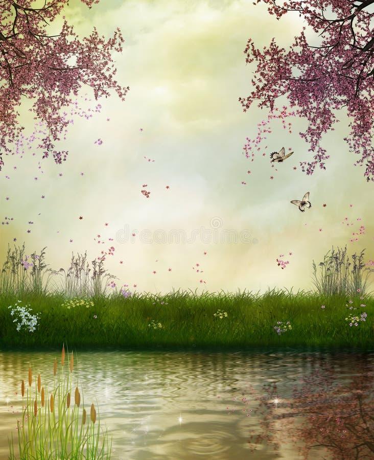美妙的河 库存图片