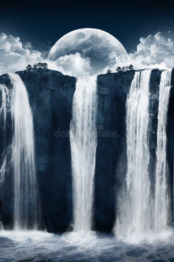 美妙的瀑布 库存照片