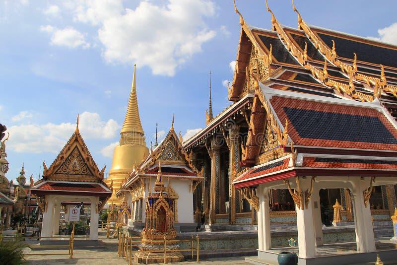 美妙的盛大宫殿和Wat Phra Kaeo -曼谷,泰国3 库存图片
