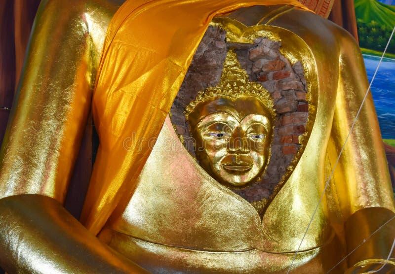 美妙的面孔的古老菩萨的菩萨 库存图片