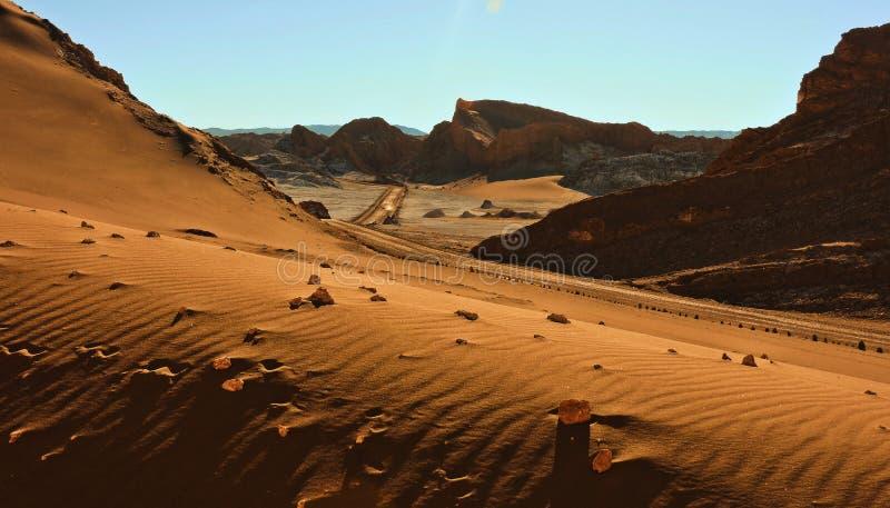 美妙的风景在阿塔卡马沙漠 库存图片