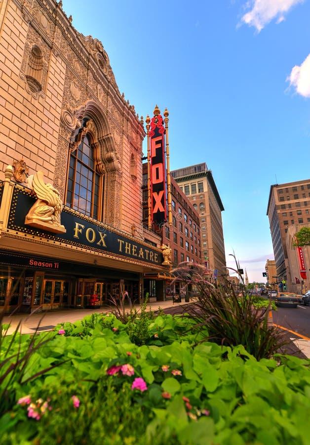 美妙的Fox剧院在圣路易斯 库存图片