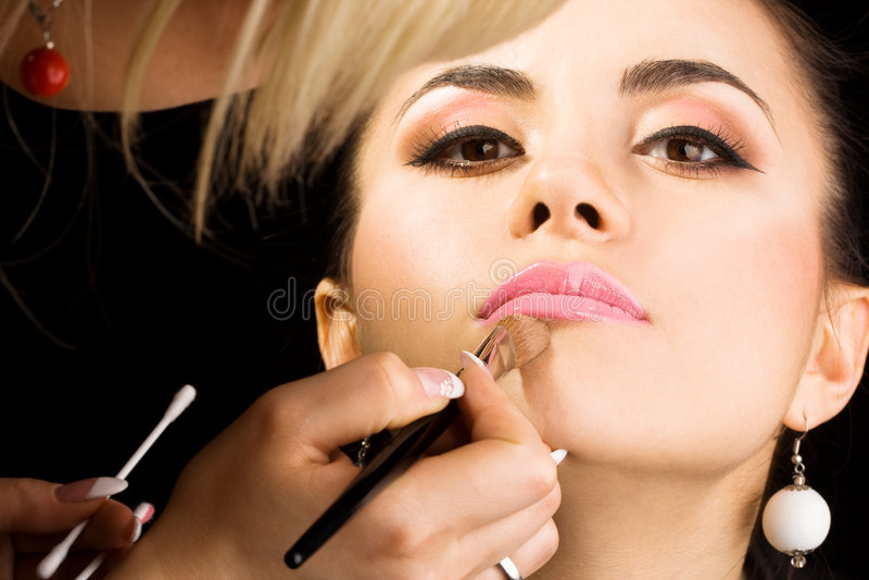 美容师执行组成 库存照片