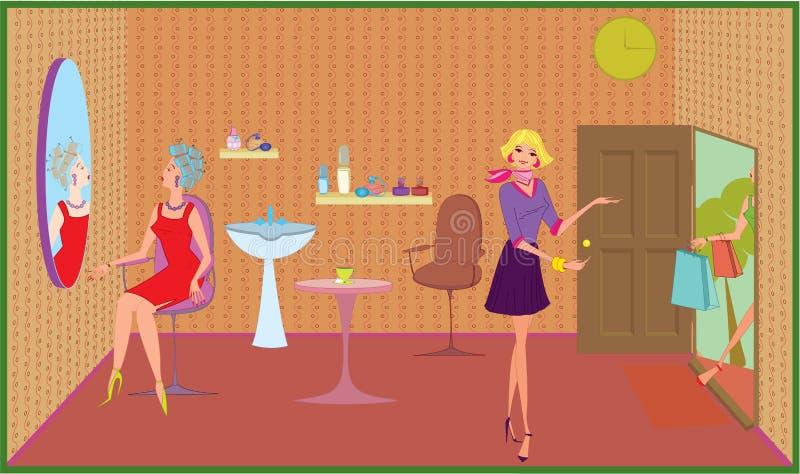 美容院欢迎 向量例证