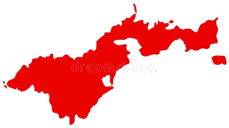 美属萨摩亚地图-位于南太平洋的美国的未组成社团的疆土,在萨摩亚东南部 皇族释放例证