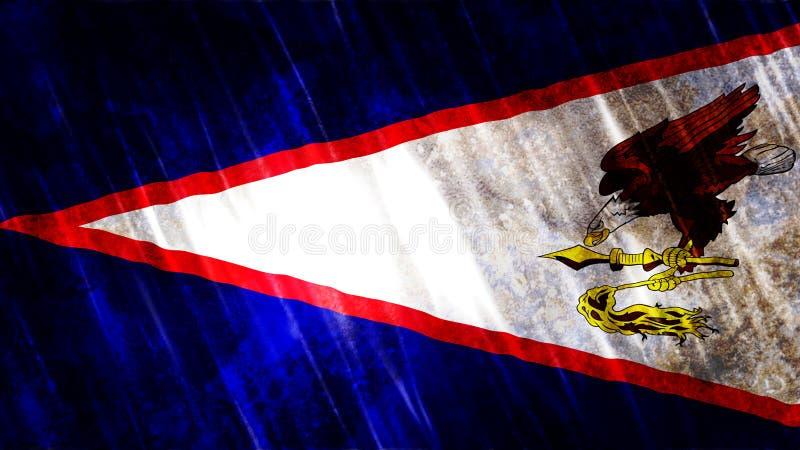 美属萨摩亚旗子 免版税库存图片