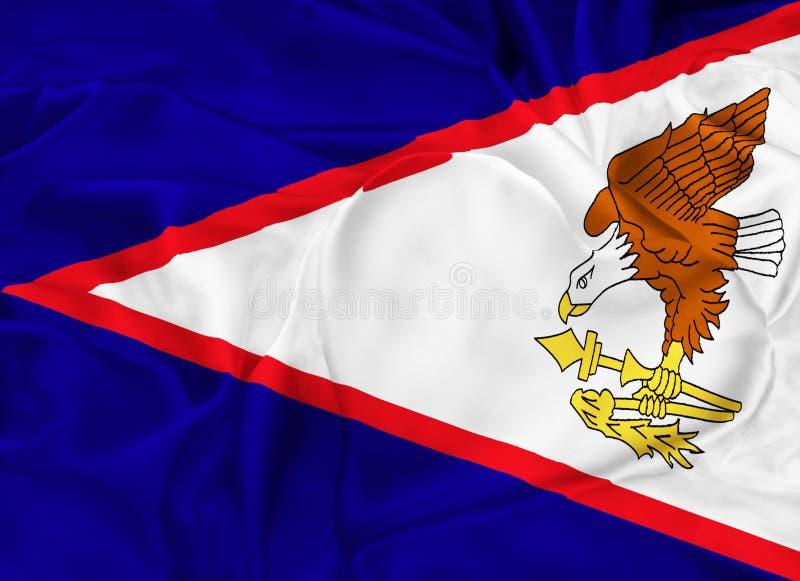 美属萨摩亚状态旗子  皇族释放例证