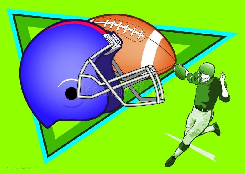 美式足球体育  免版税库存照片