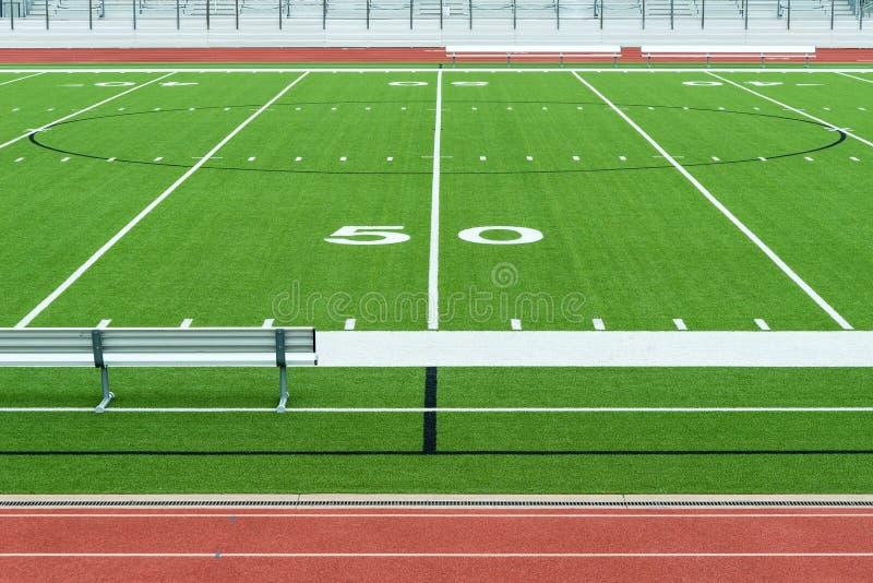 美式足球橄榄球场体育场 库存图片