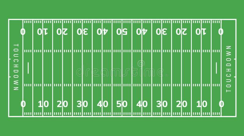 美式足球橄榄球场背景 橄榄球体育场草地例证 向量例证