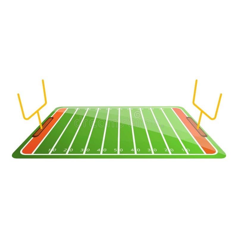 美式足球橄榄球场象,动画片样式 皇族释放例证