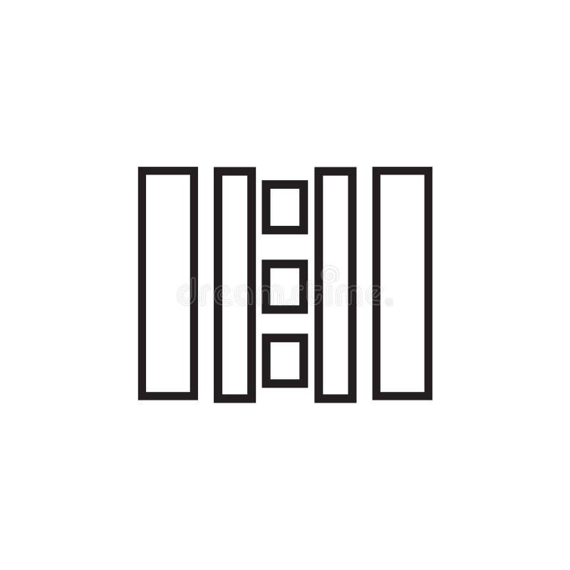 美式足球橄榄球场顶视图象在白色背景和标志隔绝的传染媒介标志,美式足球橄榄球场顶视图商标 皇族释放例证
