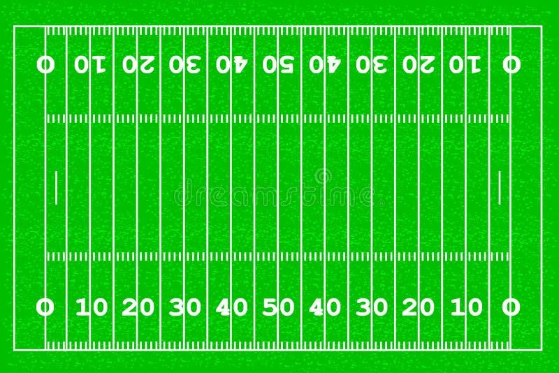 美式足球橄榄球场 皇族释放例证