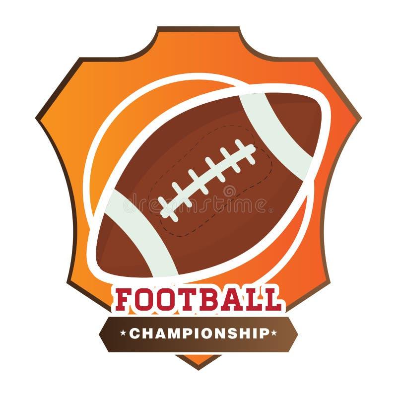 美式足球象征 皇族释放例证