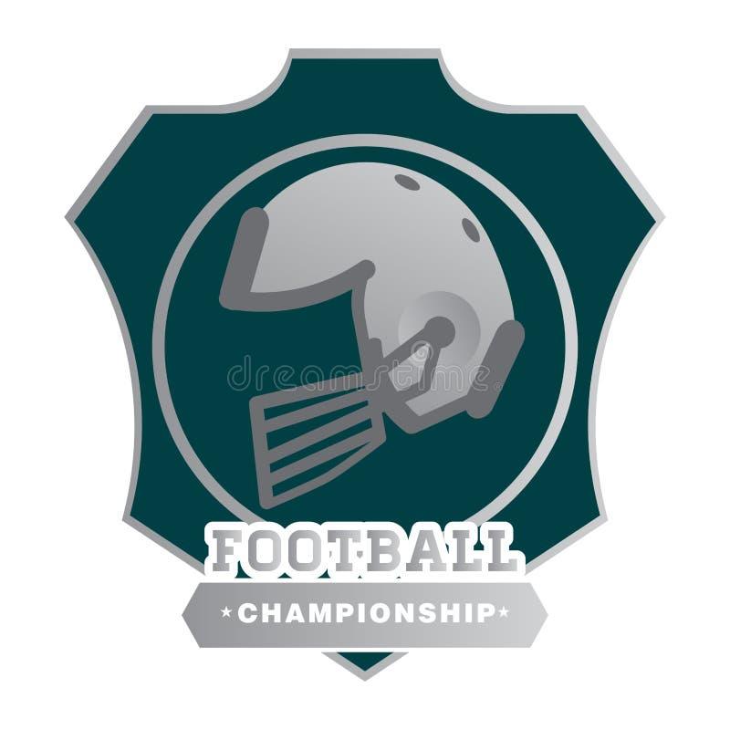 美式足球象征 库存例证