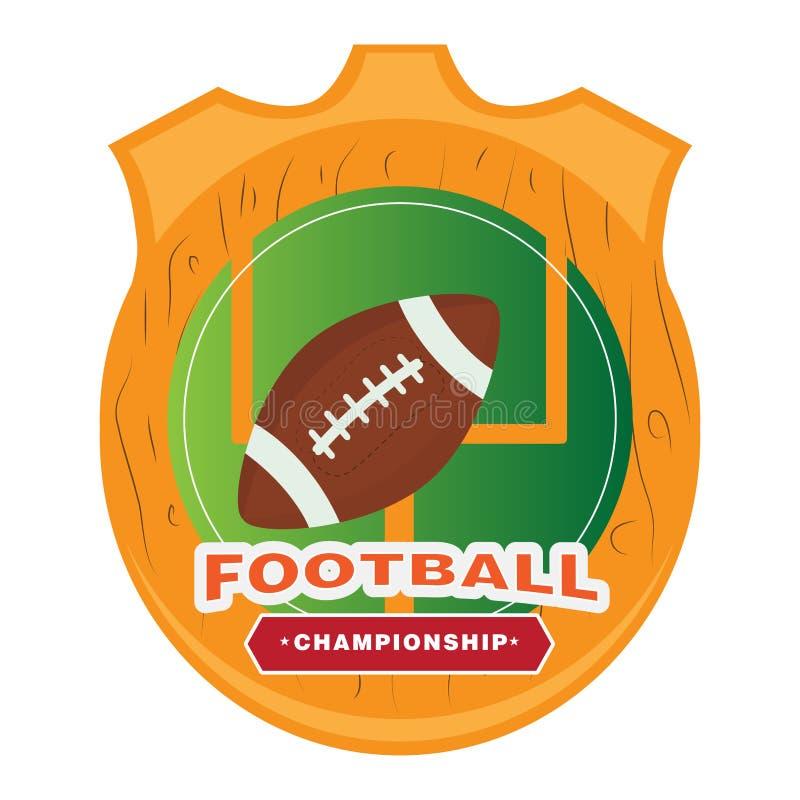 美式足球象征 向量例证
