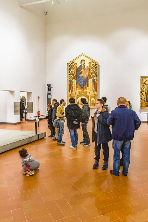 美术画廊内部视图,佛罗伦萨,意大利 库存图片
