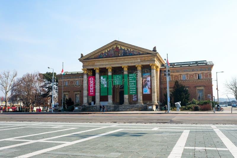 美术馆在布达佩斯在匈牙利,欧洲, 2018年 库存图片
