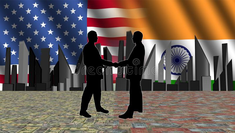 美洲印第安人会议地平线 皇族释放例证
