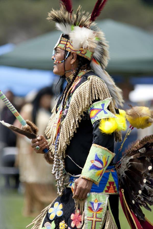 美洲印第安人战俘加州大学洛杉矶分校哇 免版税库存照片