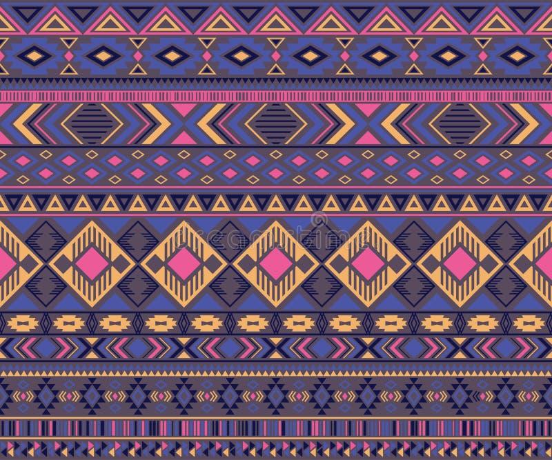 美洲印第安人样式部族种族主题几何传染媒介背景 库存例证