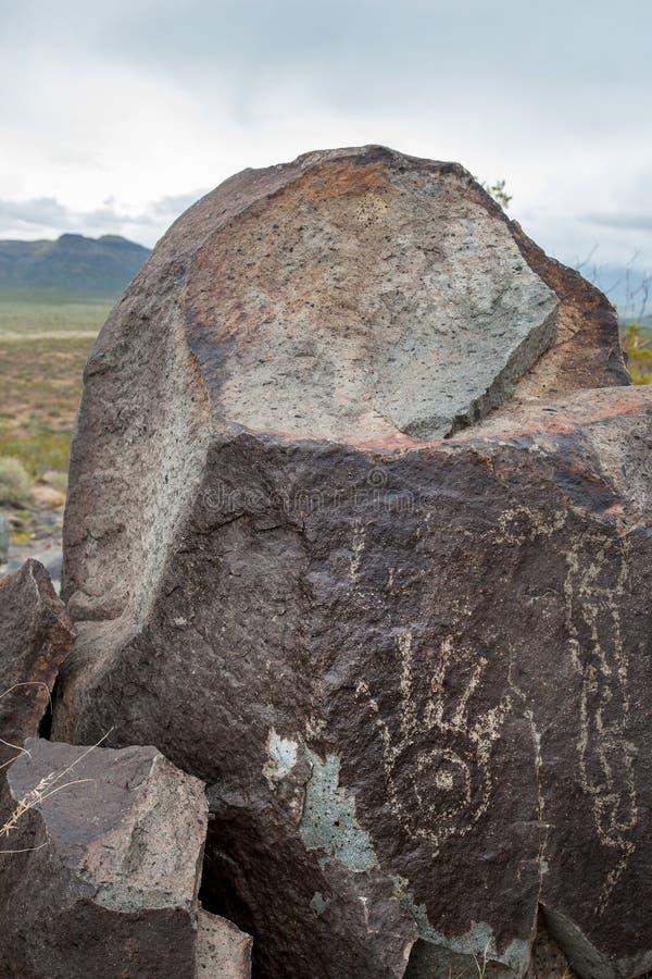 美洲原住民手岩画 库存图片