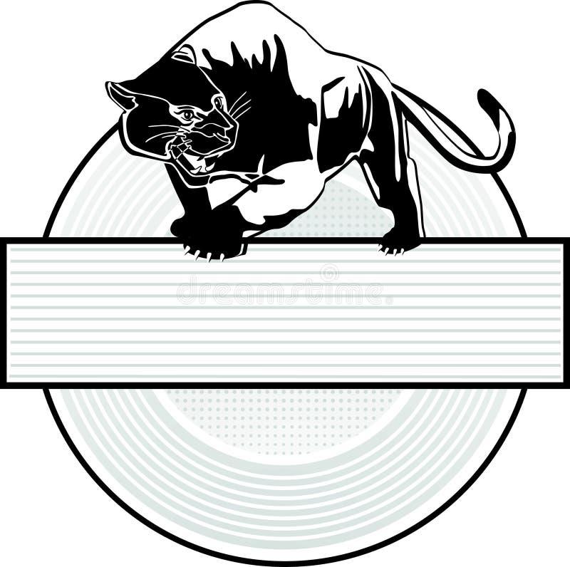 美洲狮符号 向量例证