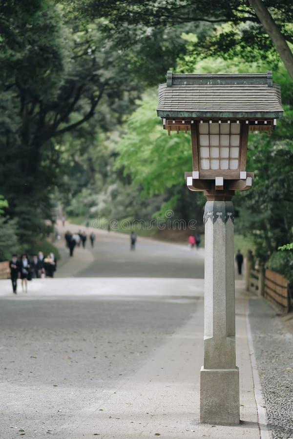 美济礁神功皇后寺庙,位于涩谷,地标和普遍旅游景点的 2018年4月6日,东京,日本 免版税图库摄影