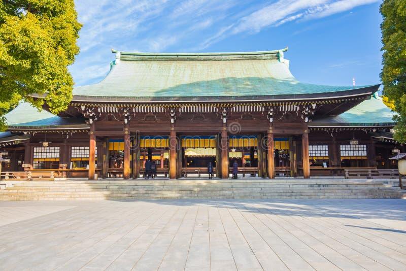 美济礁津沽寺庙在东京,日本 库存照片