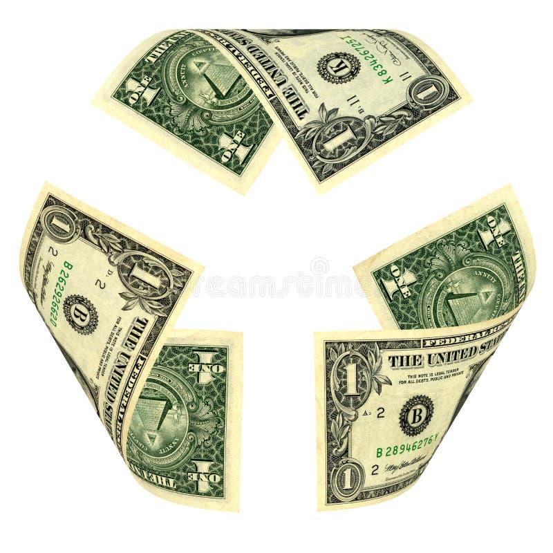 美金回收标志 免版税库存照片