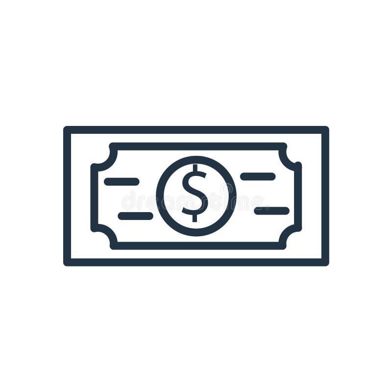 美金在白色背景隔绝的象传染媒介,美金标志 库存例证