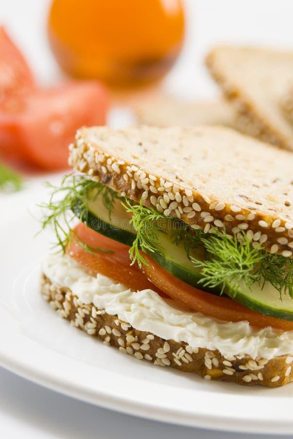 美食的三明治 库存照片