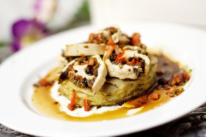 美食的肉土豆版本 免版税库存图片