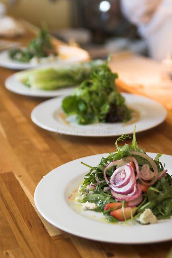 美食的行沙拉 库存图片