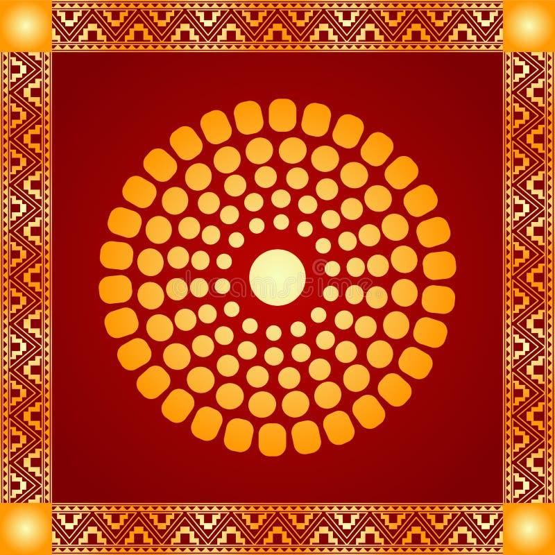 美洲印第安人、阿兹台克人和玛雅人的金黄装饰品 皇族释放例证