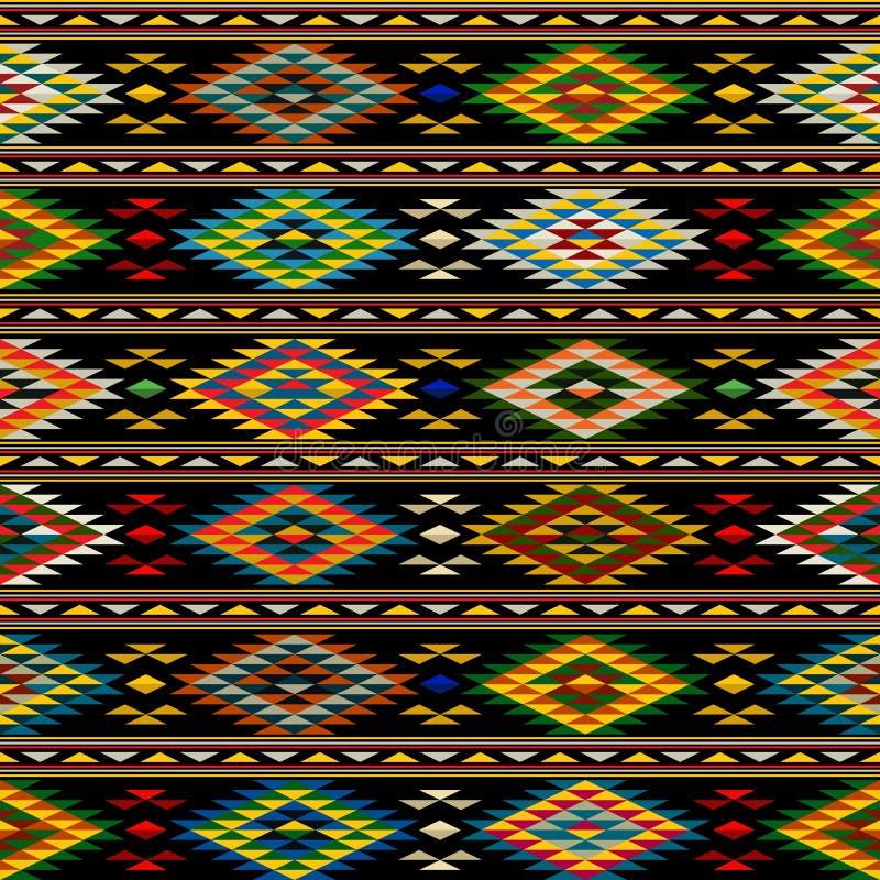 美洲印第安人无缝的样式 向量例证