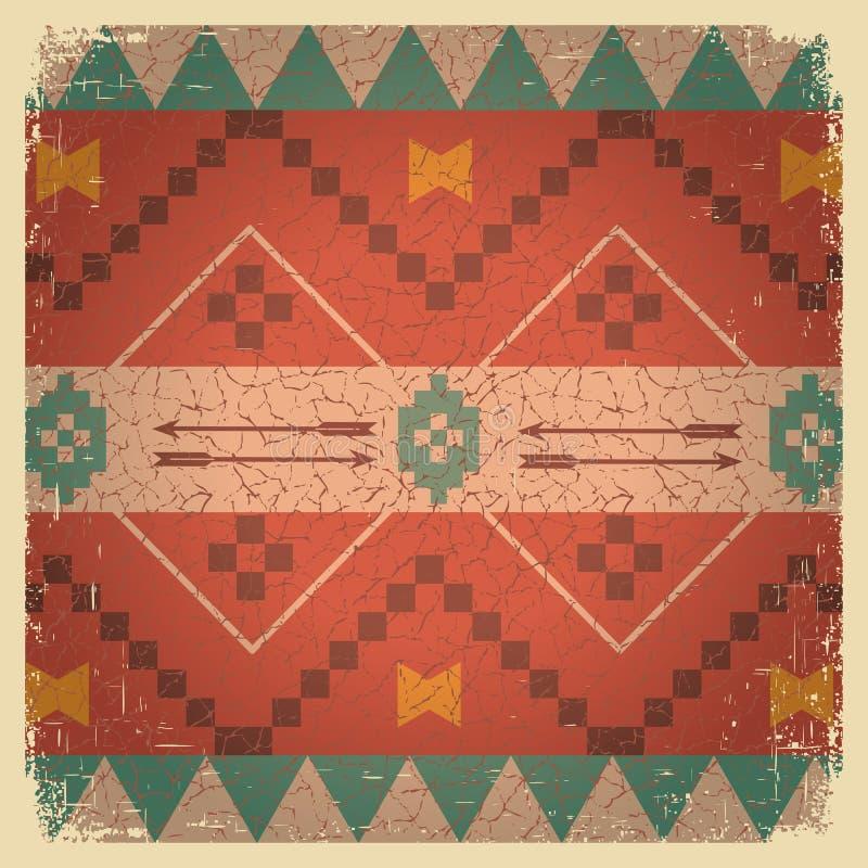 美洲印第安人的当地种族装饰品 库存例证