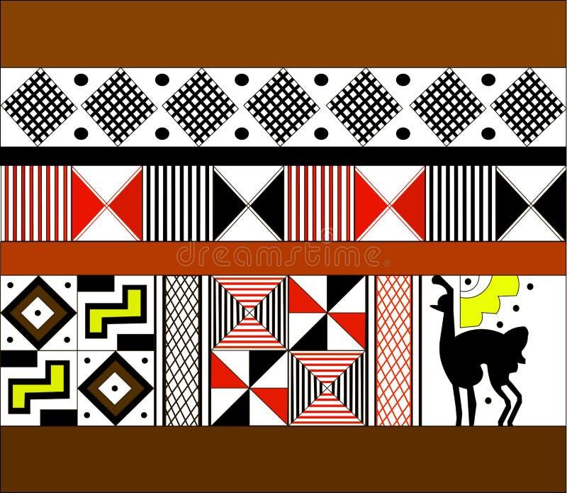 美洲印第安人的种族样式:阿兹台克人, Mayans,印加人 也corel凹道例证向量 免版税图库摄影