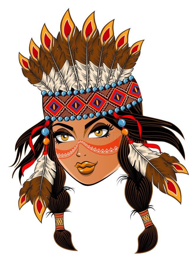 美洲印第安人 免版税图库摄影