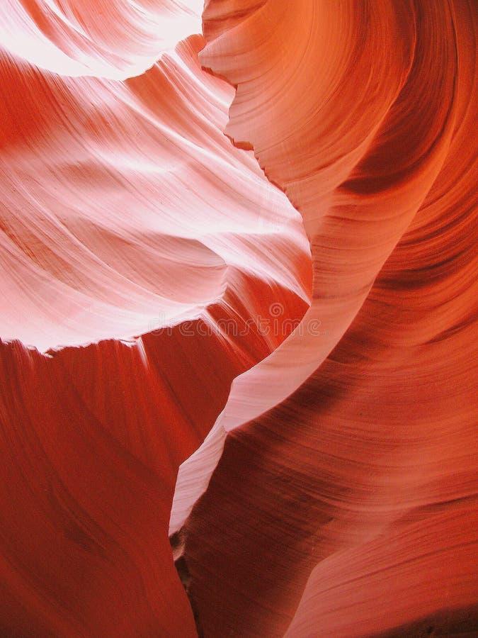 羚羊峡谷光波 库存照片