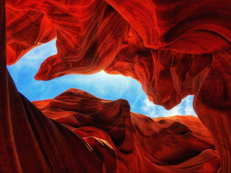 羚羊峡谷内 库存照片