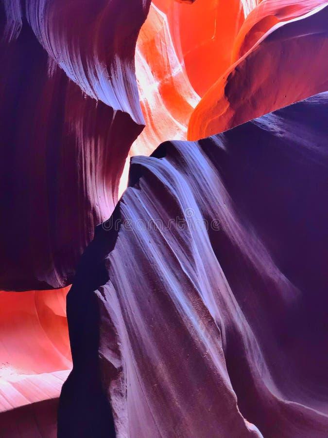 羚羊峡谷内 免版税库存图片