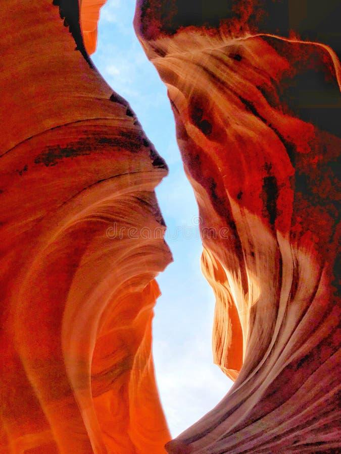 羚羊峡谷内 库存图片