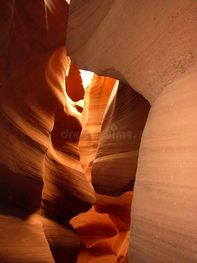 羚羊峡谷降低槽 免版税图库摄影