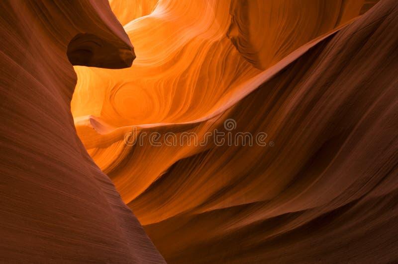 羚羊峡谷降低槽 免版税库存图片