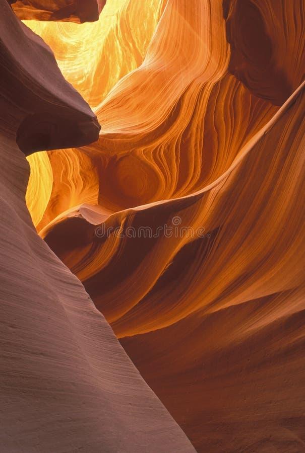 羚羊峡谷降低槽 库存图片