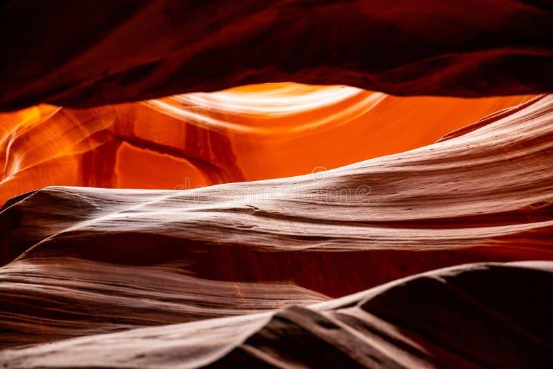 羚羊峡谷,在页附近,亚利桑那,美国 在那瓦伙族人国家的砂岩形成 库存图片